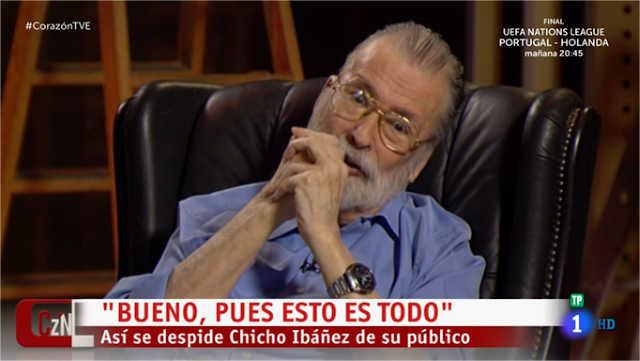 Chicho era una de las figuras mas relevantes de la television de los ultimos tiempos