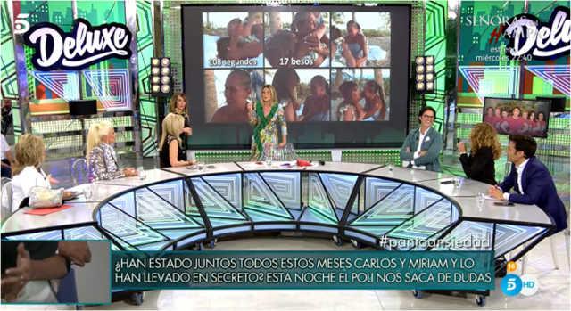 La mesa de Salvame Deluxe analiza la visita de Isa Pantoja a Supervivientes