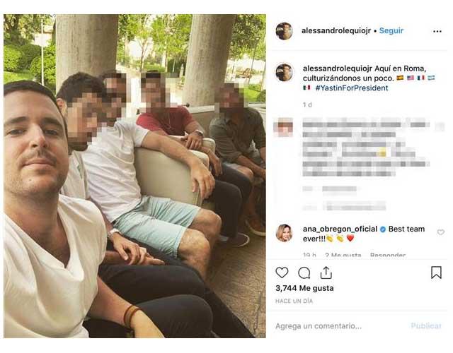 El hijo de Ana Obregón viajó junto a sus amigos a Italia