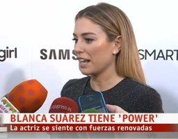 Blanca Suarez esta atravesando un buen momento personal y profesional