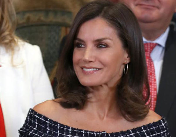 La reina acudió a dos actos en el Palacio de la Zarzuela