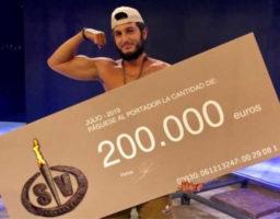 Omar Montes flamante ganador de Supervivientes