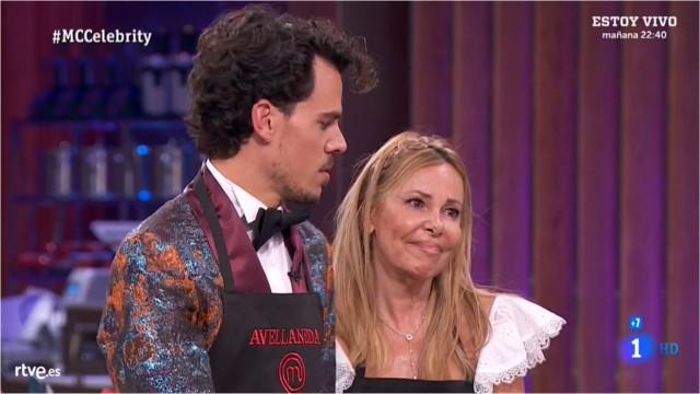 Ana Obregón y Juan Avellaneda en la cuerda floja de Masterchef