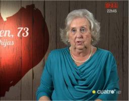 Carmen, una mujer de las de antes muy pendiente de su familia