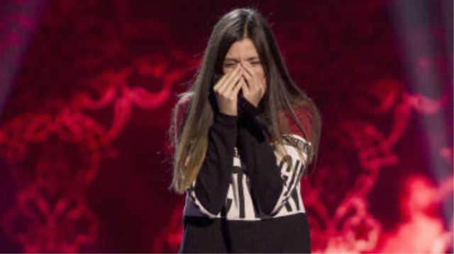 Elena Aguayo se rompe tras su actuacion en La Voz Kids