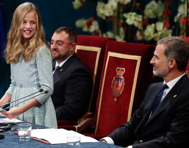 La hija de Felipe VI dio su primer discurso en los premios Princesa de Asturias