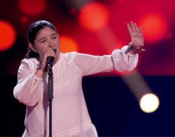 Maria Calero consigue el pleno de coaches en La Voz Kids