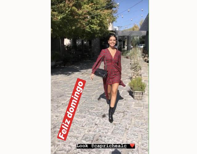 La presentadora mostró su look de domingo en instagram