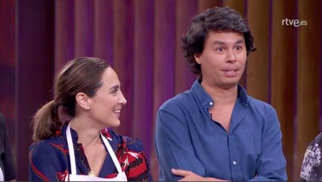 Tamara y su primo Álvaro en Masterchef