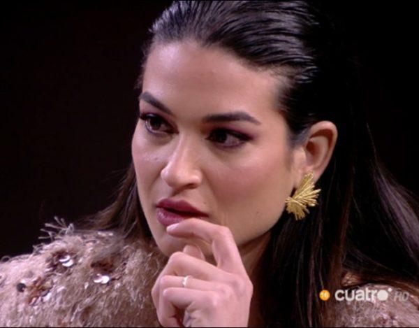 Estela impactada por las palabras de Kiko Jiménez