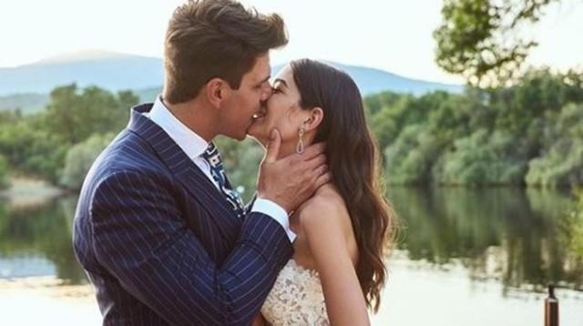Diego y Estela en una imagen el día de su boda